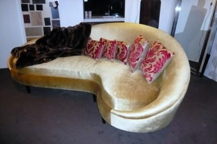 Curved Gold Sofa