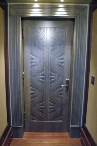 Art Deco Bronze Door