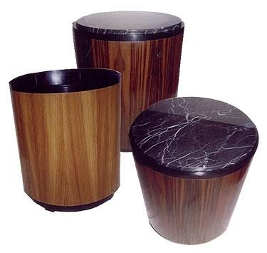 Art Deco Drum Side Tables
