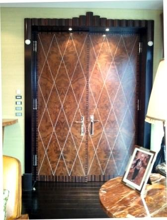 Doors in Walnut with Diamond Inlay