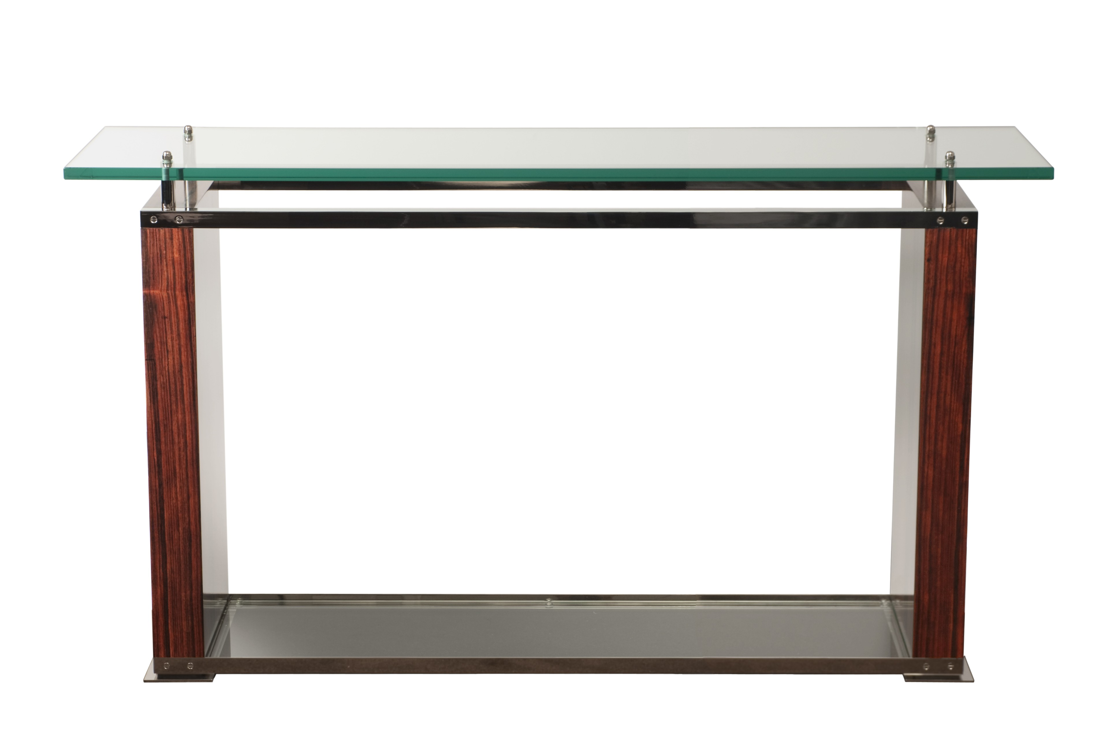 Glass top industrial console