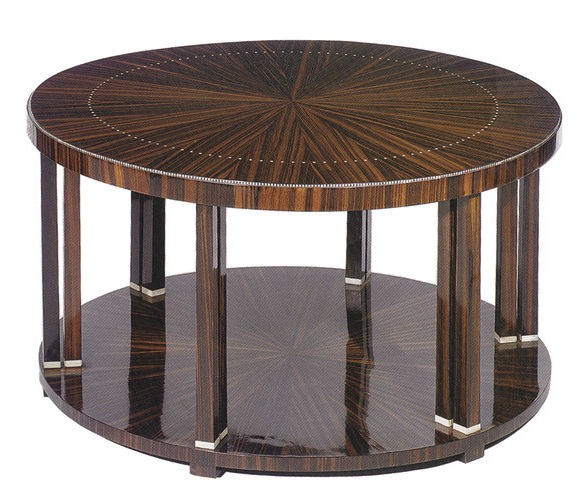 Ruhlmann's Collonette coffee table in Macassar with Nickel detail