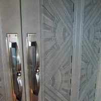 Theatre Doors with Custom made Bronze Handles