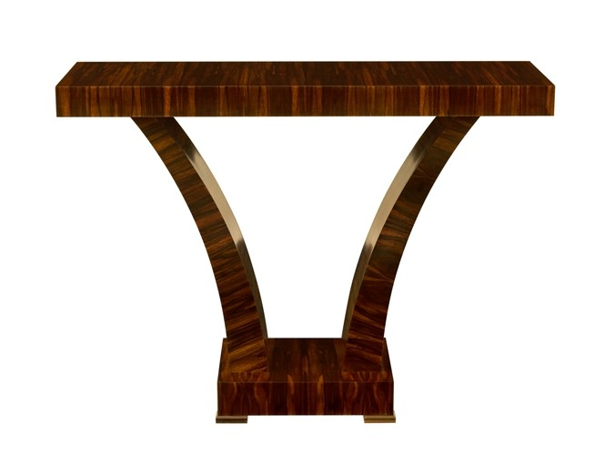 Tusk Console Table in Macassar